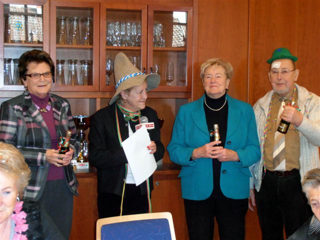 Gertrud Vogel, Brigitte Launinger, Edith Bruckmüller und Josef Seidel