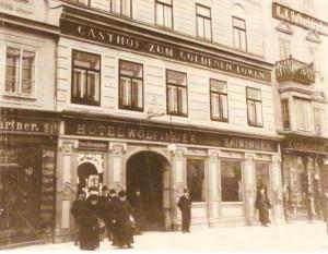 """""""Zum Goldenen Löwen"""", Hotel Wolfinger, 1910"""